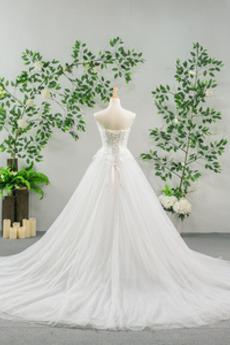 Robe de mariée Longue noble Décolleté Dans le Dos A-ligne Printemps