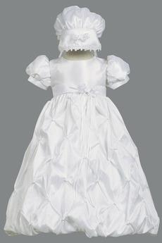Robe de fille de fleur Princesse Longue Chapeau Nœud à Boucles
