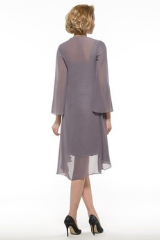 Robe mères 2 Pièces Manche de T-shirt Près du corps Festin Longueur de genou