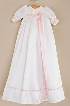 Robe de fille de fleur Exquisite Été Empire Manche Demi Petit collier circulaire