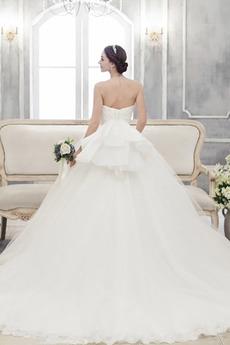 Robe de mariée Traîne Longue Cathédrale Luxueux Médium Perle