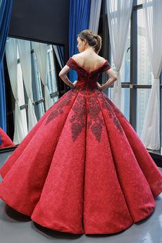 Robe de bal Longue Fermeture éclair Fourreau Avec Bijoux Rosée épaule