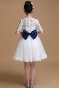 Robe de fille de fleur Manquant Printemps Longueur de genou Montrer