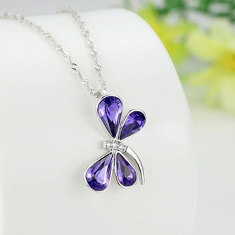 Libellule Femmes Cristal violet Argent Fourniture En Gros Collier et Pendentif - Page 3