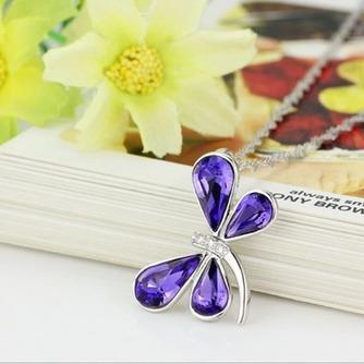 Libellule Femmes Cristal violet Argent Fourniture En Gros Collier et Pendentif - Page 2