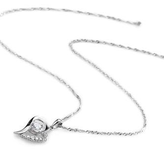 En forme de coeur vente chaude placage femmes Bright Shine collier et pendentif - Page 2