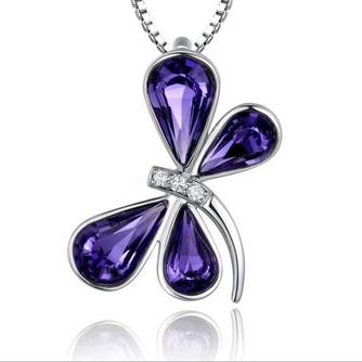 Libellule Femmes Cristal violet Argent Fourniture En Gros Collier et Pendentif - Page 1