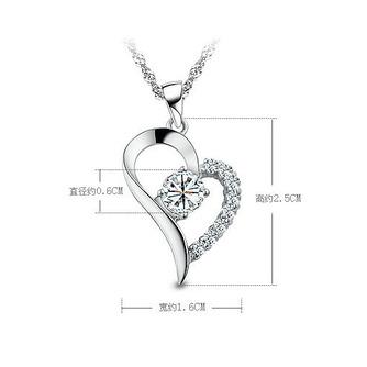 En forme de coeur vente chaude placage femmes Bright Shine collier et pendentif - Page 4