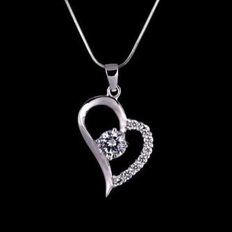 En forme de coeur vente chaude placage femmes Bright Shine collier et pendentif - Page 3