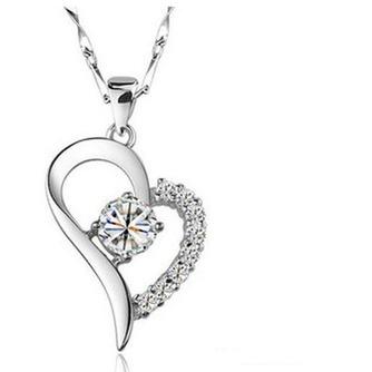 En forme de coeur vente chaude placage femmes Bright Shine collier et pendentif - Page 1