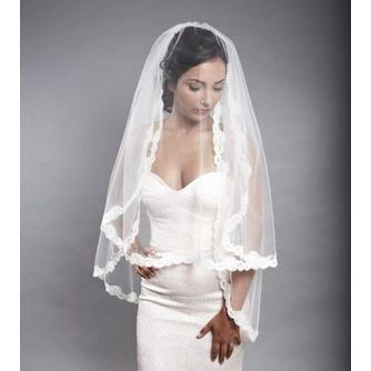 Voile de mariée blanc Dentelle Chic Dentelle Mariage Automne - Page 1