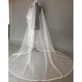 Voile de mariée Longue Epurée Froid Traîne Longue net blanc - Page 1
