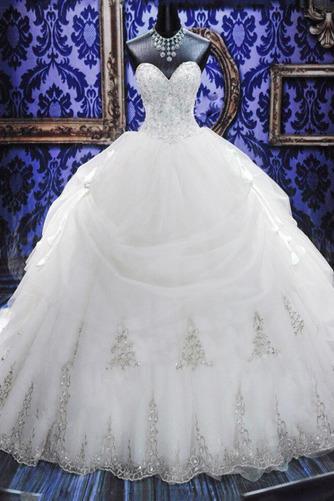 Robe de mariée Tulle Col en Cœur Eglise Sans Manches Ancien Cristal - Page 1