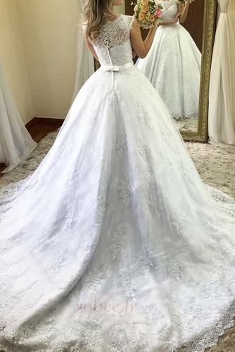 Robe de mariée Orné de Nœud à Boucle Plage Naturel taille Sans Manches - Page 2