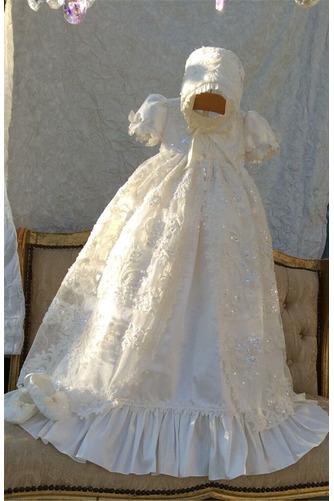 Robe de fille de fleur Bébé Manquant Perle Chapeau Naturel taille - Page 1