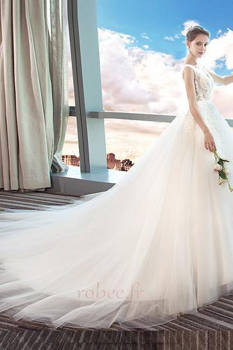 Robe de mariage Norme A-ligne Sans Manches Formelle Automne Naturel taille - Page 4