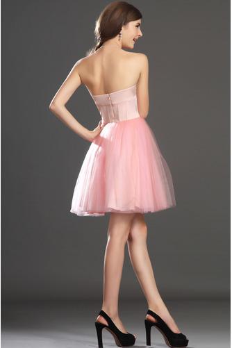 Robe de bal Tulle Mode Sablier Perle rose Col en Cœur Sans Manches - Page 7