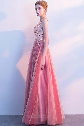 Robe de soirée Fermeture à glissière Longueur au sol Corsage Avec Bijoux - Page 4