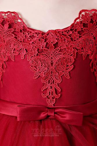 Robe de fille de fleur Manche de T-shirt Naturel taille Fermeture éclair - Page 5