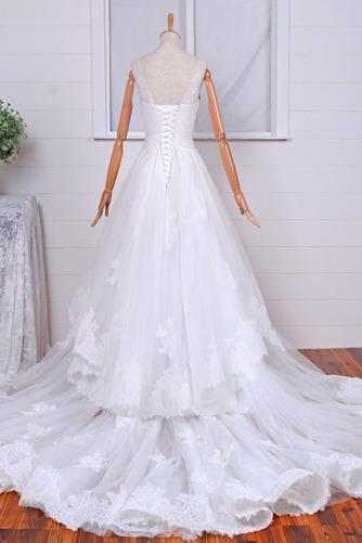Robe de mariée Vintage Col Bateau Traîne Mi-longue Haut Bas Dentelle - Page 2