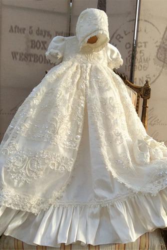 Robe de fille de fleur Bébé Manquant Perle Chapeau Naturel taille - Page 3