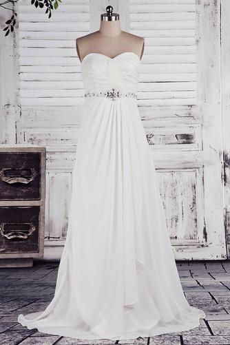Robe de mariée Empire Longue Laçage De plein air Sans bretelles - Page 1