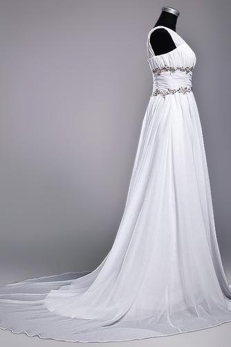 Robe de mariage Fourreau plissé Drapé Une épaule A-ligne Mousseline - Page 2
