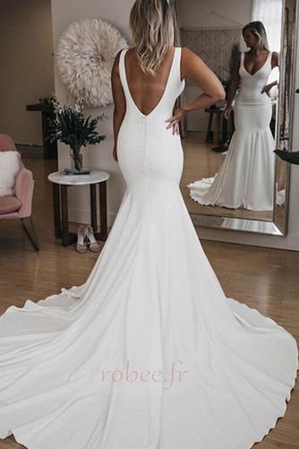 Robe de mariée Sirène Été Dos nu Col en V Petites Tailles De plein air - Page 2