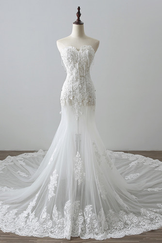 Robe de mariée Tulle Norme Automne Dépouillé Elégant Lacez vers le haut - Page 1