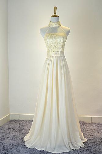 Robe de demoiselle d'honneur Mousseline Mariage Traîne Courte - Page 1