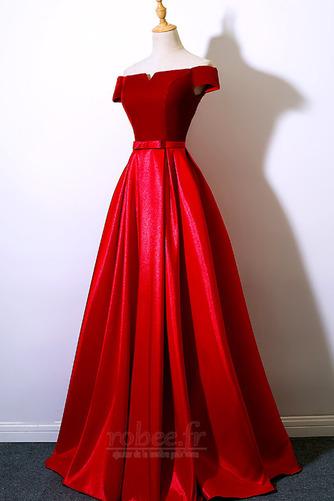 Robe de bal Laçage Rosée épaule Poches Fête Sans Manches a ligne - Page 9