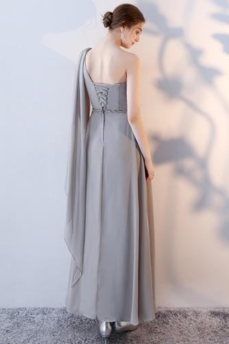 Robe de demoiselle d'honneur Laçage Sans Manches Mousseline A-ligne - Page 12