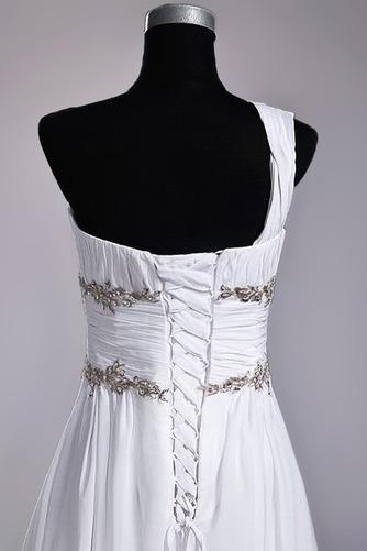 Robe de mariage Fourreau plissé Drapé Une épaule A-ligne Mousseline - Page 7