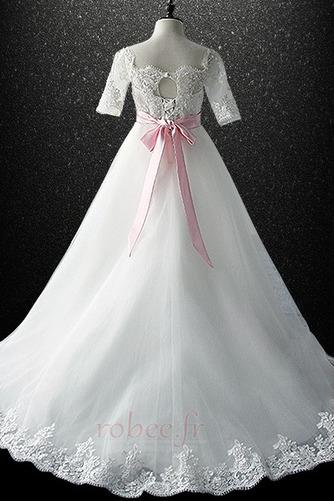 Robe de fille de fleur Cérémonie Laçage Orné de Nœud à Boucle - Page 5