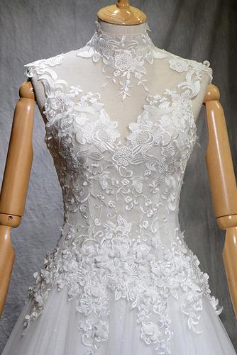 Robe de mariée Naturel taille Haute Couvert Satin A-ligne Manquant - Page 4