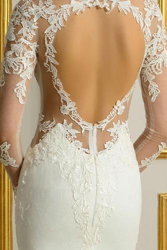 Robe de mariée Sans Manches Manquant Printemps Elégant Traîne Moyenne - Page 5