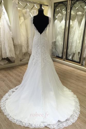 Robe de mariée Manche Longue Fermeture à glissière Traîne Mi-longue - Page 2