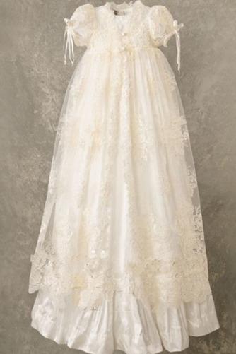 Robe de fille de fleur Naturel taille Manquant Cérémonie Haute Couvert - Page 1