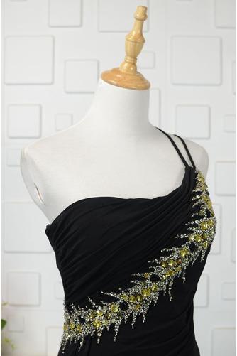 Robe de bal Noir Naturel taille Une épaule Longue Sans Manches - Page 4