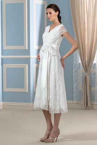 Robe de mariée Dentelle Luxueux Longueur de genou Taille haute - Page 2