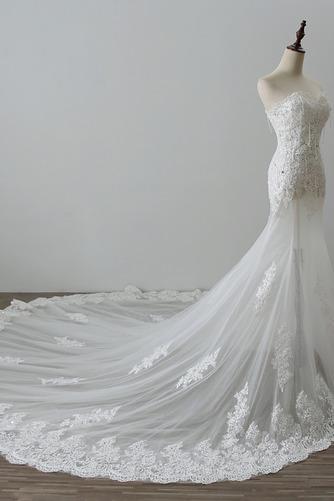 Robe de mariée Tulle Norme Automne Dépouillé Elégant Lacez vers le haut - Page 3