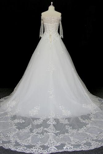 Robe de mariée Manche Longue Perler Formelle Naturel taille A-ligne - Page 2