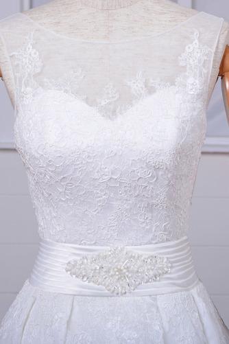 Robe de mariée Vintage Col Bateau Traîne Mi-longue Haut Bas Dentelle - Page 4
