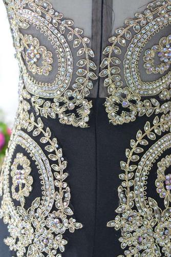 Robe de soirée Fermeture à glissière Longueur de plancher Petit collier circulaire - Page 5