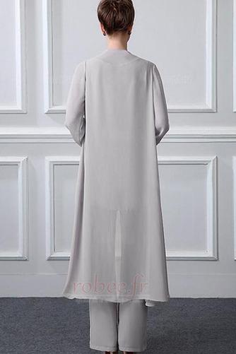 Robe mères Manche Longue Formelle Chiffon Un Costume Festin Haute Couvert - Page 2