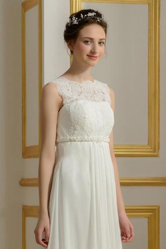 Robe de mariage Mousseline Empire Taille haute Couvert de Dentelle - Page 4