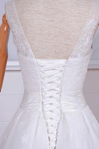 Robe de mariée Vintage Col Bateau Traîne Mi-longue Haut Bas Dentelle - Page 5