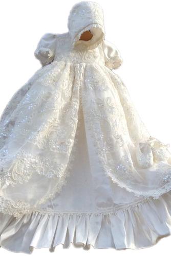 Robe de fille de fleur Luxueux Dentelle Haute Couvert Lanterne - Page 1