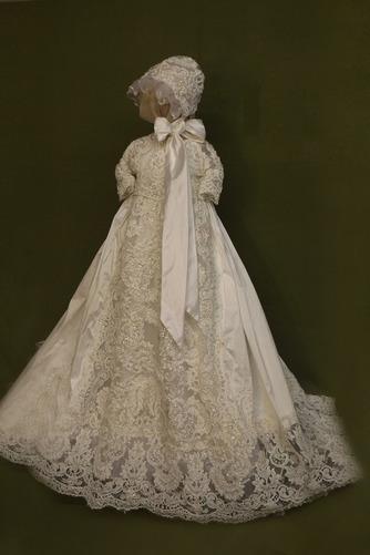 Robe de fille de fleur Cérémonie Manche Courte Automne Longue - Page 1
