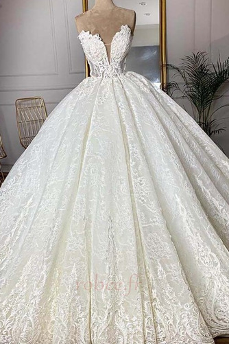 Robe de mariée Sans courroies Sans Manches Glissière Luxueux - Page 1